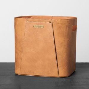 Hearth & Hand Faux Leather Large Storage Bin